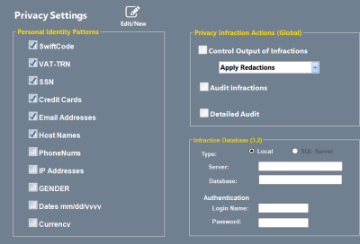 Easily configure search patterns for Personal Identity Management